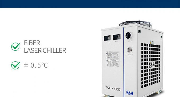 Industrial recirculating chiller for 1KW fiber las