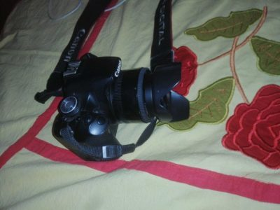 Canon 500D with 75-300mm lens