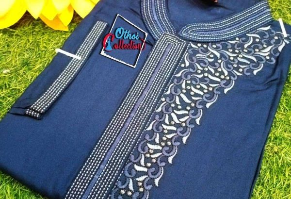 A.C. Cotton Punjabi With Embroidery Work
