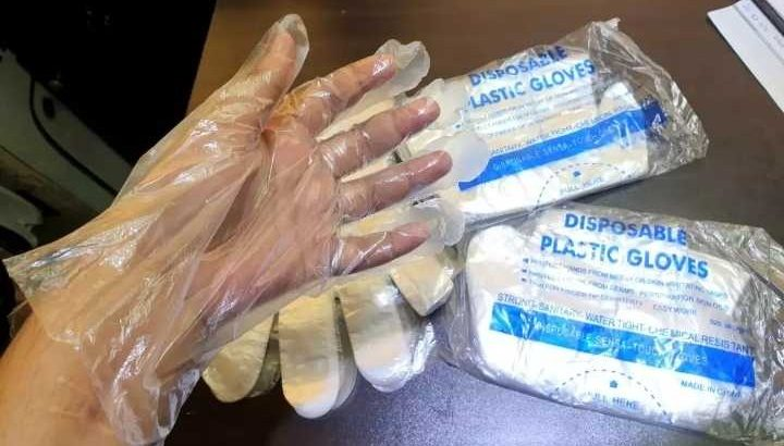 Hand gloves poly