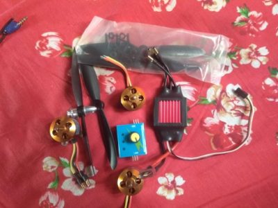 Dron Brushless Motor and esc controller and accessories (BLDC)